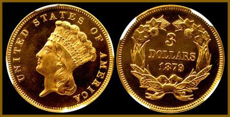 three dollar gold three dollar gold pieces 1854 1889